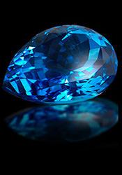 Камень декабря Голубой топаз