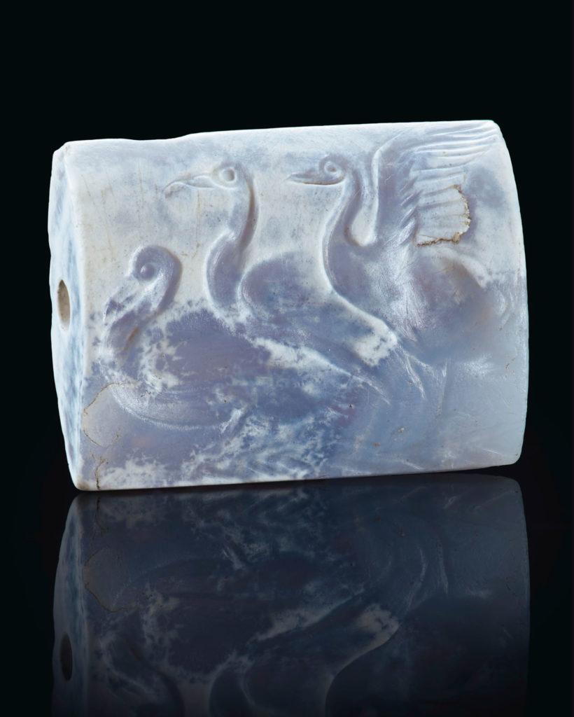 печать с тремя лебедями